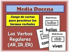 Half Dozen - Spanish Verb Form Speaking Activity: Regular AR, ER & IR Verbs