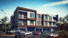 residential with retail Model available on Turbo Squid, the world's leading provider of digital models for visualization, films, television, and games. Princess Tower, House 3d Model, Staircase Landing, Ancient Buildings, Residential Complex, Brick, Multi Story Building, Villa, Modern