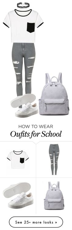 """School"" by shootunicorns on Polyvore featuring Topshop and Puma"