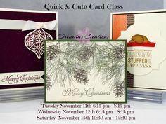 November 2014 Quick & Cute Class