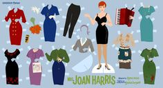 Mad Men + paper dolls.