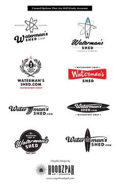 Waterman's Shed Watersport Swap Logo Design - | We Got Hoodzpah