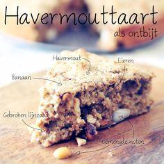 Havermouttaart+met+noten+ +Ontbijt+voor+meerdere+dagen-Voedzaam+&+Snel