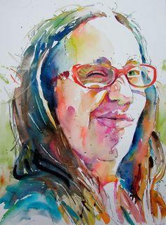 David K. Lobenberg #fan #art #watercolor