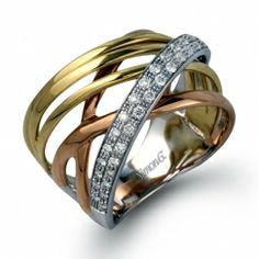 Rose gold, yellow gold, and diamonds! #PERFECTION