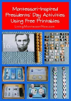Free President's Day Printables and Montessori-Inspired President's Day Activities #education #homeschool