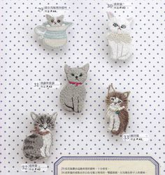 FREE SHIPPING Sale 80 cute Embroidered Felt by DollyAndPaws