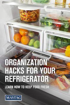 Guide to Refrigerator Organization Refrigerator Organization, Kitchen Organization Pantry, Freezer Organization, Fridge Storage, Expired Food, Grey Kitchen Designs, Tuscan Style Homes, Kitchen Pantry Cabinets, Nutritious Breakfast