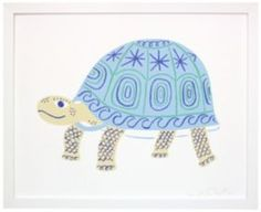 """Turtle"" by Wayne Pate, $250, 21"" x 17,"" available at Serena  Lily. #serenaandlily"