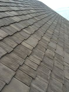 Photos Faux Cedar Shake Roof   Top Rated Synthetic Composite CeDUR Roofing Shakes Wood Roof Shingles, Cedar Shake Shingles, Cedar Shakes, Shake Siding, Rustic Exterior, Exterior Siding, Cedar Roof, Cool Roof, Roof Repair