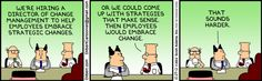 Employees embrace change
