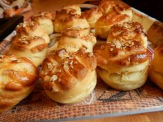 Hungarian Recipes, Hungarian Food, Canapes, Pretzel Bites, Baked Potato, Biscuits, Bakery, Food And Drink, Pizza