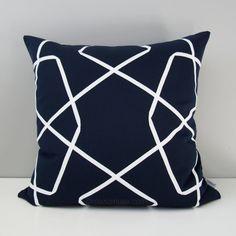 Nautical Outdoor Pillow Cover, Modern Sunbrella Pillow Cover, Red White U0026  Blue Color Block Pillow Cover, Mineral, Navy Blue Cushion Cover | Outdoor,  ...