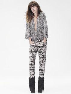 Lou Doillon modeling Isabel Marant x H&M
