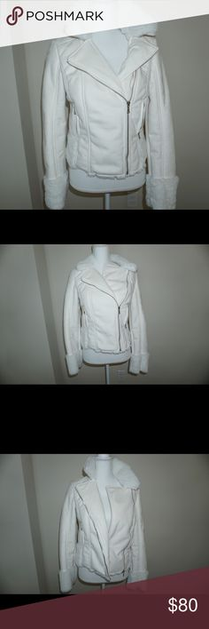 Guess white faux fur jacket Perfect condition worn once! Super soft and warm Guess Jackets & Coats