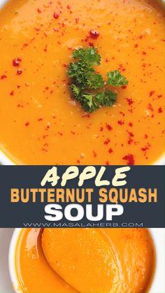 Autumn Squash Soup Recipe, Roasted Butternut Squash Soup, Butter Ut Squash Soup, Butter Ut Squash Recipes, Autumn Squash Recipes, Healthy Butternut Squash Recipes, Spaghetti Squash Soup, Butternut Squash Soup Healthy, Winter Squash Soup