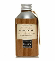 I Coloniali Silky Shower Cream with Shea Butter 250ml shower cream by I Coloniali. $19.57. Country of origin: Italy. 250ml shower cream. Please read all label information on delivery.. Karite butter comes from the seeds of the Butter Tree which grows in central Africa, also called the `Tree of Health` by local people. Karite has enriching, soothing and protective properties and helps the skin keep its natural firmness. New product: Silky shower cream with shea butter. 250 ml ...