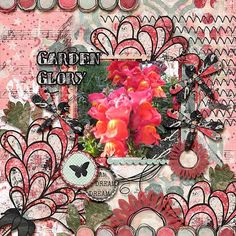 Our snapdragons this year were so pretty!! I love spring! I used ARTISTICALLY SPEAKING from Jill Scraps found here: http://store.gingerscraps.net/Artistically-Speaking-1-Mixed-Media-Kit-by-Created-by-Jill.html and a template from and a template from Ponytails Templatopia Vol. 13 pack found here: http://store.gingerscraps.net/Templatopia-Vol.-13.html