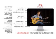 STREAM YOUR FLAMENCO GUITAR CLASSES AT GREAT PRICE. More info: http://lasonantaclasses.com