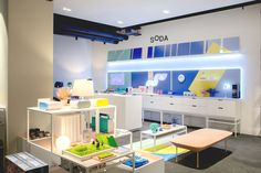 Soda pop-up shop at Selfridges - Innermost Retail Space, Pop Up, Soda, Vanity, Spaces, Projects, Furniture, Shopping, Home Decor