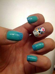 My Dia de los Muertos nails :) (First post!)
