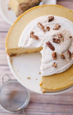 Raw Pumpkin Cheesecake (vegan)
