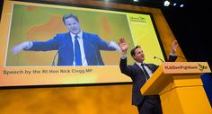 Former leader of the Liberal Democrats Nick Clegg speaks on the third day of the Liberal Democrats annual conference on September 20 2015 in.