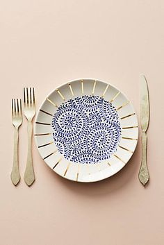 Garden Guest Dessert Plate from Anthropologie. Dessert Design, Design Plat, Decoration, Decorating Your Home, Interior And Exterior, Sweet Home, Entertaining, Crafty, Tableware