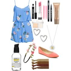 Spring outfit by merlinfan2004 on Polyvore featuring polyvore, fashion, style, MINKPINK, Daisy Jewellery, Capelli New York, Ribband, Christian Dior, Laura Mercier, Anastasia, Eyeko, Revlon and Kiehl's