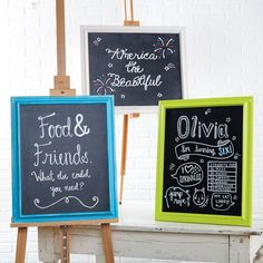 Canvas panel chalkboard sign- frame, canvas panel, chalkboard p Cute Crafts, Crafts For Kids, Diy And Crafts, Decor Crafts, Chalkboard Paint, Chalkboard Signs, Chalkboards, Trader Joe, Architecture Art Nouveau