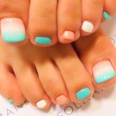 Pastel Toe Nail art #nailbook