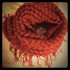 ☃ New SOFT!! Burgundy Scarf Wonderful feeling scarf. New in package fresh from the Mart. Can be worn as an infinity or oblong regular because of the hollow design. Versatile beauty. Perfect for this upcoming autumn. Accessories Scarves & Wraps