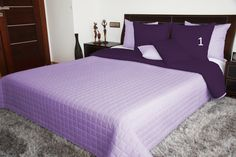 Oboustranné přehozy přes postel ve fialové barvě Bed Spreads, Furniture, Design, Home Decor, Colors, Decoration Home, Room Decor, Home Furnishings