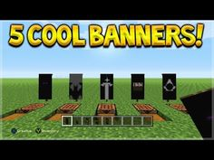 5 Awesome Custom Logo Banner Designs-How To Make Custom Banners In Minecraft Cool Minecraft Banners, Minecraft Banner Designs, Minecraft House Designs, Minecraft Decorations, Minecraft Creations, Minecraft Projects, Minecraft Crafts, Minecraft Furniture, Minecraft Videos