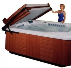 41 Best Hot Tub Covers Lifts And Steps Images Hot Tubs Bubble