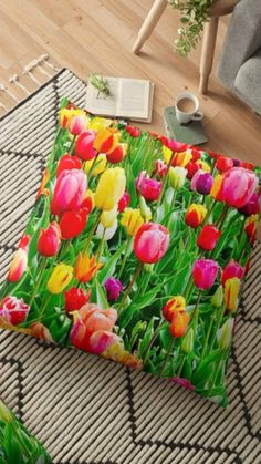Colorful decor for your home Colorful Roses, Colorful Decor, Lotus Pose Yoga, Rose Clock, Flower Decorations, Table Decorations, Duck Toy, Bubble Tea, Printed Tote Bags