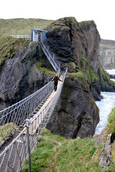 me on the carrick-a-rede bridge!