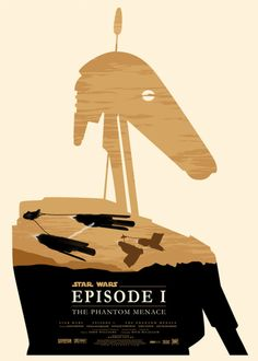 Concept poster for The Phantom Menace by British artist Olly Moss