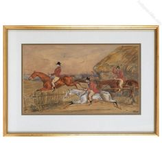 A pair of 19th Century hunting watercolours In the manner of Henry AlkenWatercolour and bodycolour. Antiques Atlas Watercolour Paintings, Watercolours, 19th Century, Hunting, Royalty, Pairs, Antiques, Royals, Antiquities