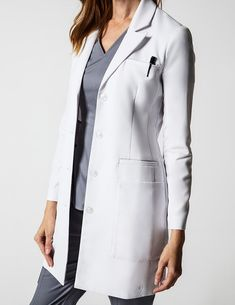 Neela Lab Coat in White - Lab Coats by Jaanuu
