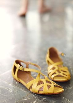Gorgeous yellow sandals from Toast.