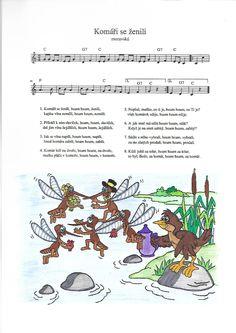 Komáři se ženili Kids Songs, Ukulele, Teacher, Education, Music, Autism, Children Songs, Professor