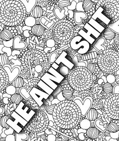 Sweary coloring page coloringpagesiwant 3 Skull Coloring Pages, Detailed Coloring Pages, Love Coloring Pages, Printable Adult Coloring Pages, Coloring Books, Coloring Pages Inspirational, Color Sheets, Jenni, Videos Funny