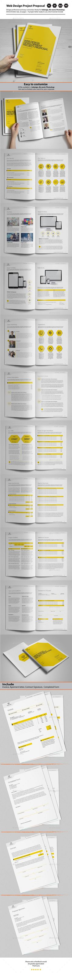Indesign Business Proposal Template Template Pinterest - proposal form template