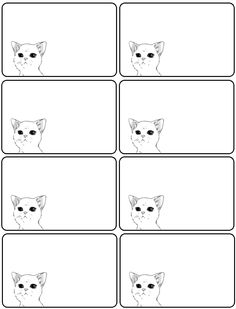 Labels, cat labels, printable labels ,printables