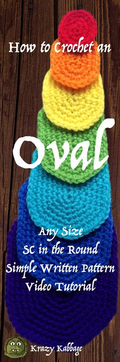 How to Crochet an Oval – Krazykabbage