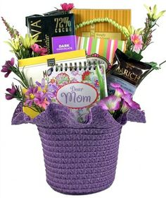 This beautiful gift basket for Mom will show off your great taste and thoughtfulness while reminding her how much she is loved by all. This fun and colorful gift basket is the perfect way to let Mom know how dear she is to you!  Comes in several colors #mothersday #giftsformom #giftbaskets #redrooster