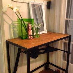 Upcycled saw bench Drafting Desk, Upcycle, Bench, Table, Furniture, Home Decor, Decoration Home, Upcycling, Room Decor