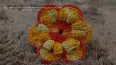 flor de croche inclinada - YouTube