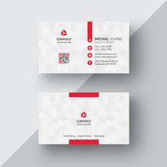Modelo colorido moderno do carto de visita graphic amazing business cards with multiple logos white business card with red details psd file atlantic data design reheart Image collections